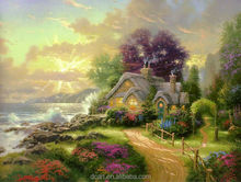 2014 Factory Direct Sale Garden Scenery Painting By Thomas Kinkade