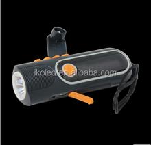 dynamo led flashlight/hand shake flashlight/hand charge flashlight with radio