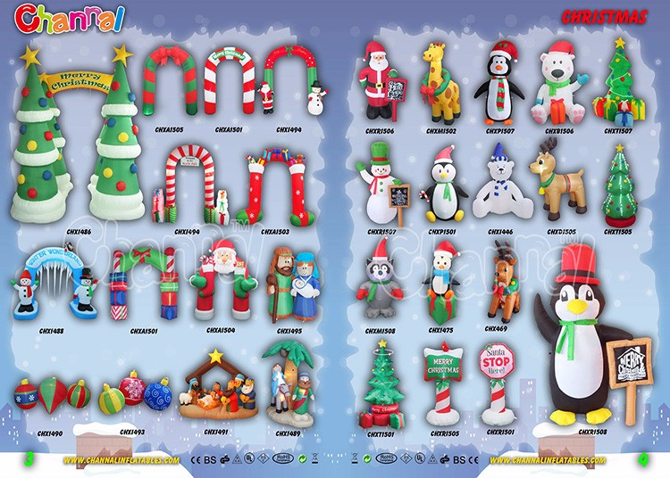 cataloge of holiday inflatable decoration _2016 2jpg - Polar Bear Inflatable Christmas Decorations