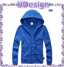 Hot sale china plain blue custom made hoodies blank high quality hoodies 100 cotton sweatshirts