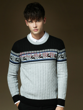 man sweater jacquard dot knitted sweater wool sweater design for boys pullover