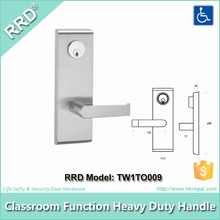 [RRD-TW1TO009] Wide Escutcheon Plate Outside Lever Locked Handle Set for Panic Device