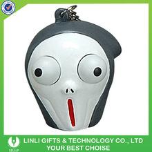 Custom logo various eyes pop out keychain,scream figures keychain