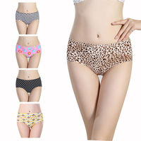 Western Favorite Seamless Underwear Wholesale Cheap Leady Lingeie Sexy Young Girls Colourful Mix Pattern Image Seamless Panty