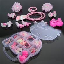 Children's hello kitty jewelry set box cute jewelry