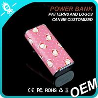 Mobile power bank, external portable power bank charger 5200mah