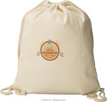 wholesale fabric cotton drawstring bag