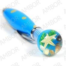 marca nuevo color 6 arcilla polimérica pluma de bola con insectos reales incrustado como regalos de navidad