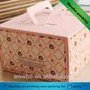 Pink paperboard cake take away packaging box