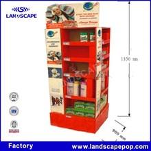 Cardboard washing liquid display for shampoo for sunsilk