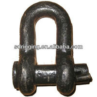 D Forelock Shackle Fitted with Oval Pin