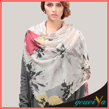No MOQ Voile Soft Digital Printed Polyester Scarf