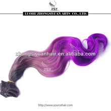ZSY wholesale new arrival colorful synthetic clip hair