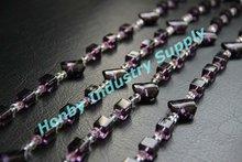 Purple color irregular shape acrylic bead chain curtain