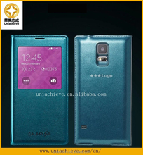 Hot selling Case for Samsung s5, the genuine PU leather filp case for Samsung s5