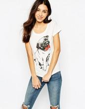 Fashion Love Heart Printed Long Sleeve T-shirt Tops Shirt Tees Women Round Neck
