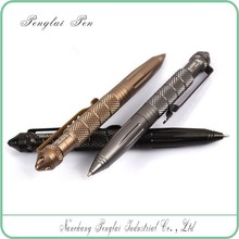 newest aerial aluminium security equipment pen for writing and survival