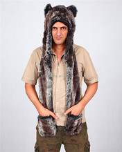 High quality cheap comfortable fashion cute faux fur warm men animal hat