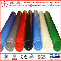 Powder coated steel tube for fence decoration