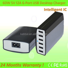 2015 Anker 6-Port Desktop USB Charger 60W!! Multi Charger 6-Port 60Watt Smart USB Charger with PowerIQ for Android HTC Phones