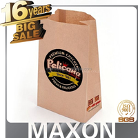 food grade custom french fries paper bag with window