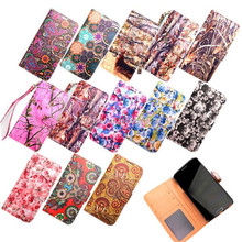 2015 Newest Printed Wallet Flip Leather Mobile Cell Phone Case For BQ More Model
