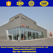 High qulity steel structure engineering design car parking with mezzaine floor car parking