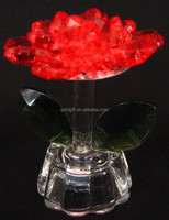 various shape flowers crystal gift