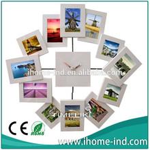 14 '' reloj de marco de fotos