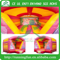 Indoor Mini Inflatable Princess Bouncy House With Roof