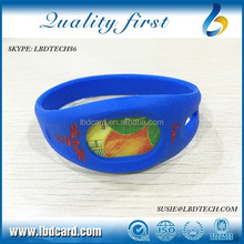 Waterproof Sillicone F08 TK4100 MF S50 RFID Bracelet/Wristband Tracking