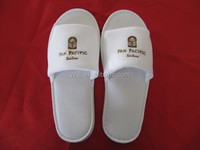 Chinese Embroidered Velvet Bedroom Cotton Slippers Open toe Mens SPA Slippers
