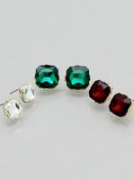 3 Pairs Christmas Inspired Light Tone Stud Earrings Set