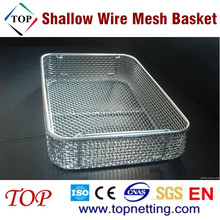 Stainless Steel Shallow Wire Mesh Basket