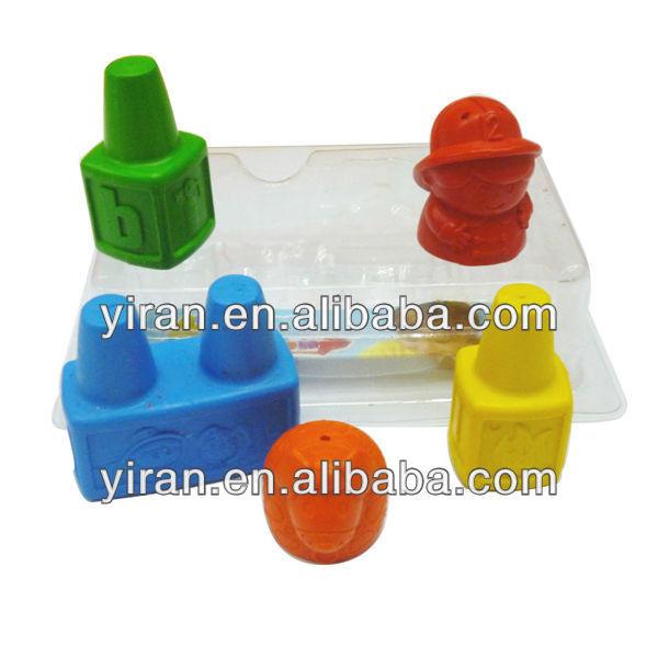 Colorful Wheel Wax Crayon Set OEM Plastic Crayons in Crayons