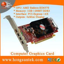 AMD ATI Radeon HD6570 PCIe 4 Mini Display ports Low Profile DDR3 1GB Multiview graphic card