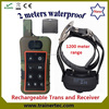 1200Meter waterproof lcd control remote dog shock training collar with CE