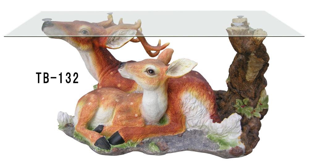 2 Deers Animal Glass Coffee Table Buy Animal Glass Coffee Table Glass Coffee Table Table