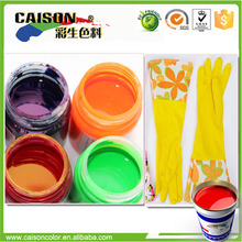 Water based color for latex gloves printing