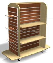 Ropa góndola mdf slatwall display unidades 4 way accesorios al por menor