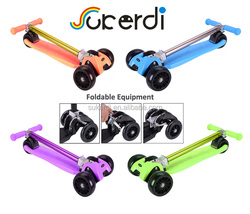 EN71 big wheel toy with pedal from china trike kick go off load mini folding scooter