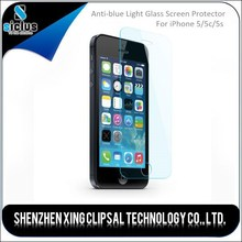 Fashion Magnetic Anti-blue Light Easy Installation 0.33mm tempered glass screen protector for iPhone 5