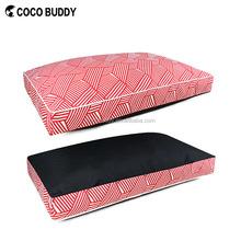 Stripe printing pet dog bed memory foam pet dog bed canvas orthopedic dog bed 2015