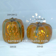 decorative pumpkin,tea-light holder