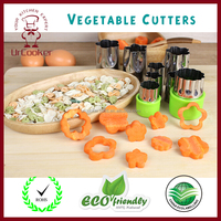 Amazon hot sales vegetable cutter mold flower shape fruit Cutters Stainless steel cake baking mold