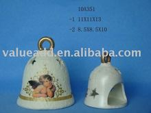 christmas terracotta bell candle holder decoration