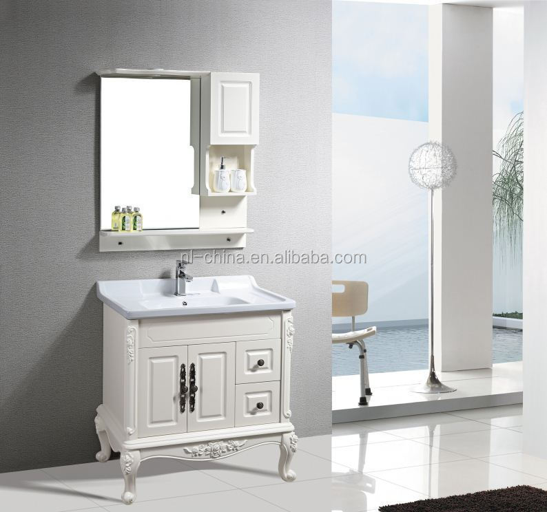 best selling pvc bathroom vanity customized with ceramic