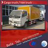 Euro 3 DFAC van van, 3-5T truck body cargo van body, small box trucks