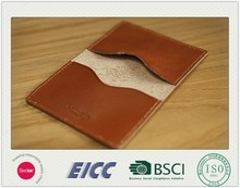 BSCI, EICC, Sedex, ISO 15 years factory 2015 top quality Leather card holder / Genuine leather Card Case / PU Card Holder