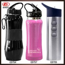 2015 Wholesales best selling stainless steel water bottle, best sale carabiner water bottle